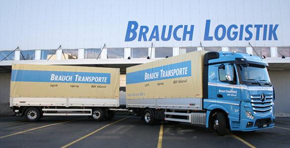 Inbetriebnahme der ersten zwei Euro-6-Norm-Fahrzeuge. Die Fahrzeugflotte zählt in ihrer Grösse zu den modernsten der Schweiz.