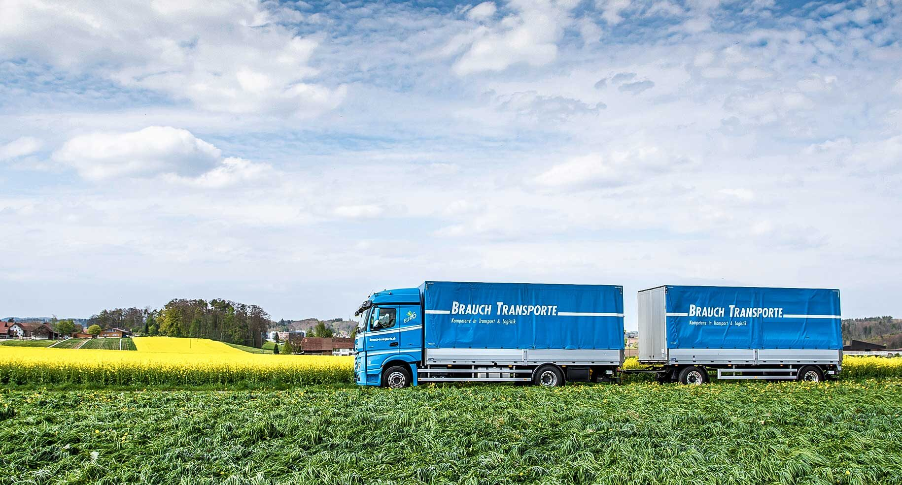 LKW transportiert Überland