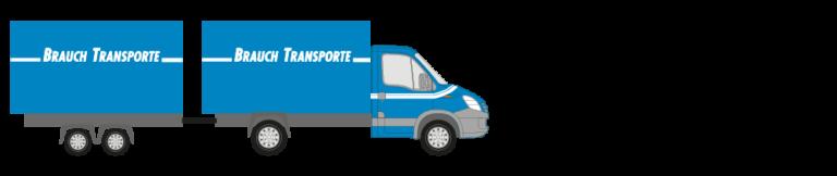 Lieferwagen mit Anhänger - Brauch Transporte AG
